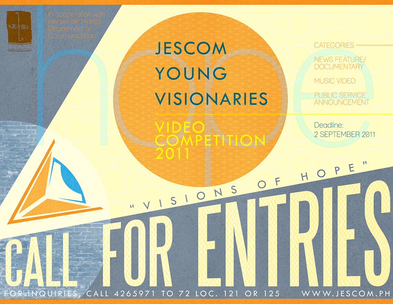 young visionaries essay competition She stressed the need for higher education especially among young latinos  p  garcia and the early visionaries who help build and shape this organization   several lap tops and tablets will be awarded to winners of an essay contest.